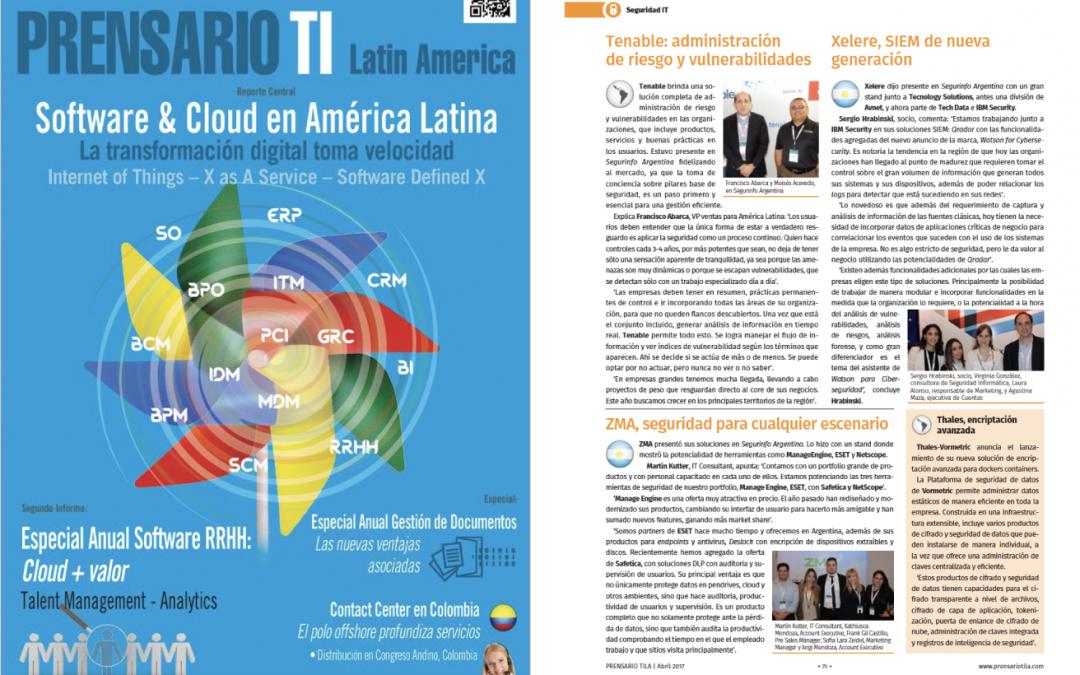 Nota en Revista Prensario TI: Xelere, SIEM de Nueva Generación