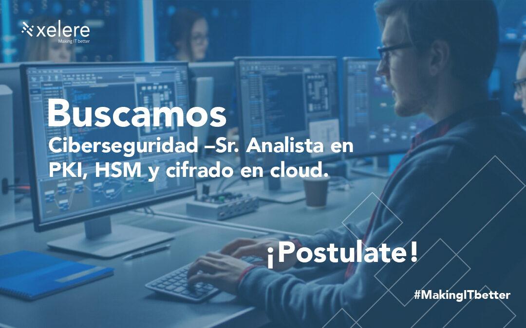 Ciberseguridad – Sr. Analista en PKI, HSM y cifrado en cloud.