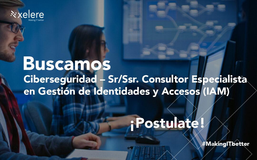 Ciberseguridad – Sr./Ssr. Consultor especialista en Gestión de Identidades y Accesos (IAM)